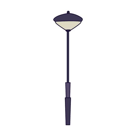 modern street lamp icon over white background, vector illustration