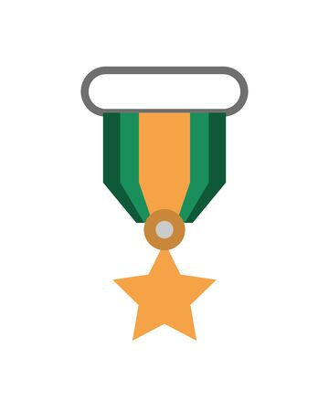military force medal isolated icon vector illustration design Illusztráció