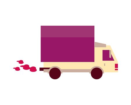 truck car vehicle isolated icon vector illustration design