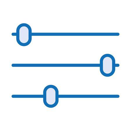 control panel audio isolated icon vector illustration design