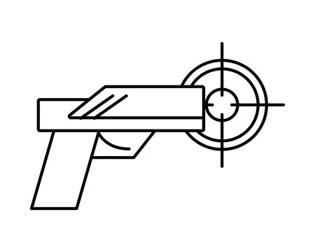 gun military force with target vector illustration design Illusztráció