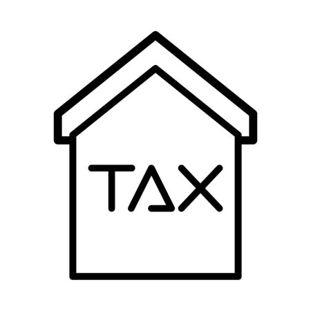 house with tax obligation icon vector illustration design