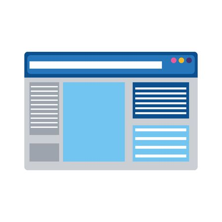 web page icon over white background, colorful design, vector illustration
