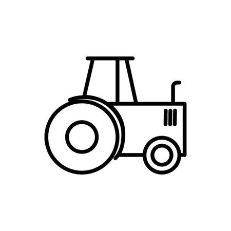 agriculture tractor transport linear design vector illustration Stock Illustratie