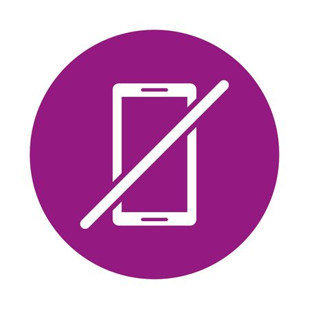 smartphone device with denied symbol vector illustration design