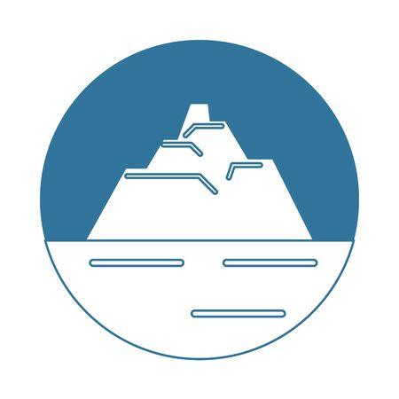iceberg floating in the water vector illustration design Illusztráció