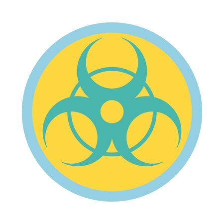 nuclear symbol caution line and fill style icon vector illustration design Vector Illustration