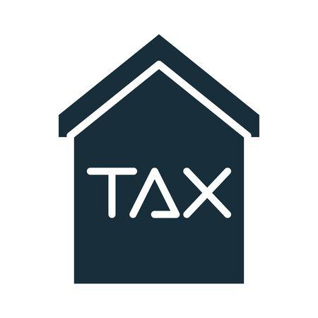 house with tax obligation silhouette style vector illustration design Vektoros illusztráció