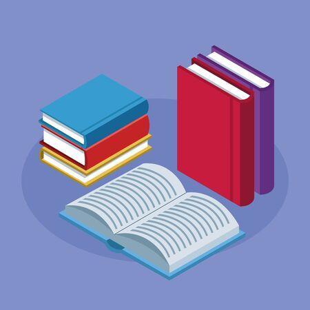 library text books education icons vector illustration design Ilustração