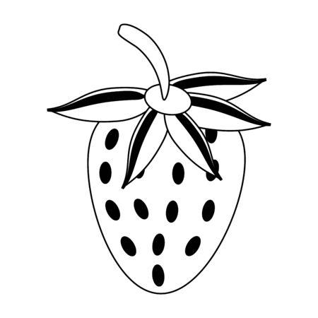 Strawberry fruit fresh food isolated vector illustration graphic design  イラスト・ベクター素材