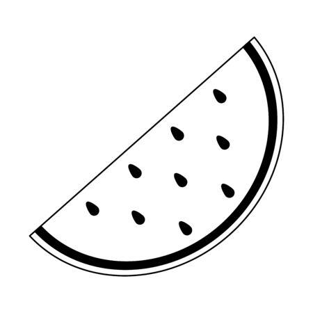 Watermelon fruit fresh food isolated vector illustration graphic design  イラスト・ベクター素材