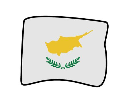 cyprus flag country isolated icon vector illustration design 向量圖像