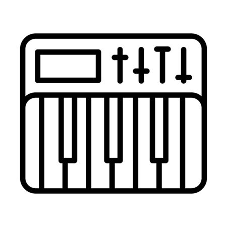piano instrument musical isolated icon vector illustration design