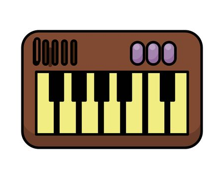 piano instrument musical flat style icon vector illustration design