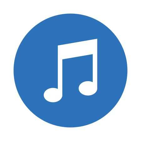 Musiknote Sound isoliert Symbol Vektor Illustration Design