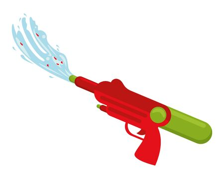 water gun toy isolated icon vector illustration design