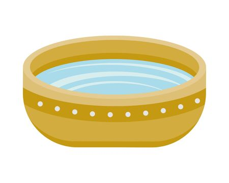 bowl with water isolated icon vector illustration design
