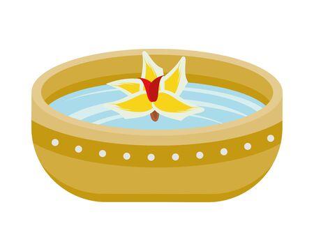 bowl with water with flower vector illustration design Ilustração
