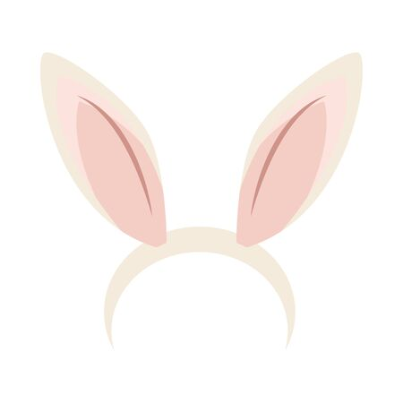 ears rabbit accessory isolated icon vector illustration design
