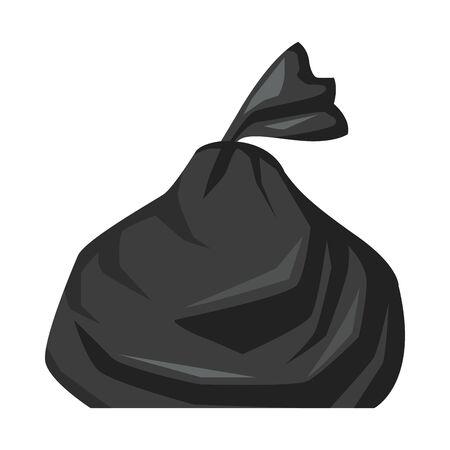 plastic garbage bag isolated icon vector illustration design Vektorové ilustrace