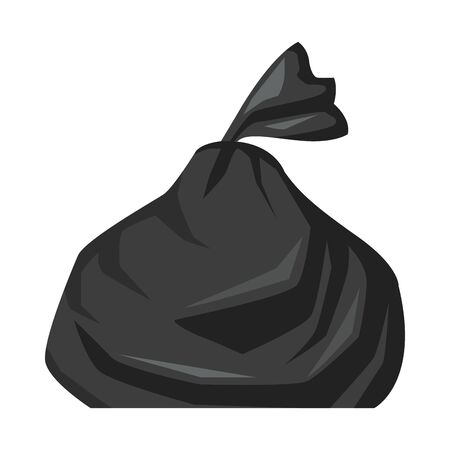 Plastikmüllsack isoliert Symbol Vektor Illustration Design Vektorgrafik