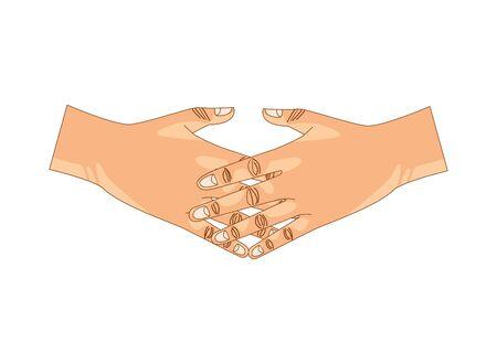 handshake done deal isolated icon vector illustration design Stockfoto - 142047942