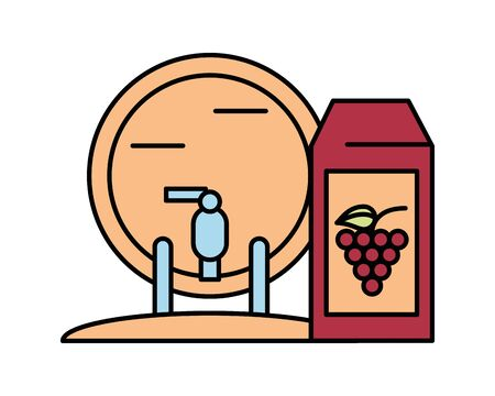 wine barrel drink isolated icon vector illustration design