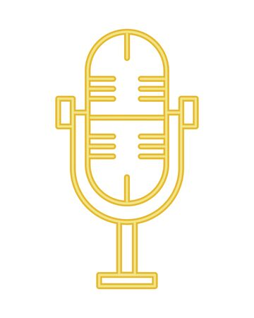 Microphone radio device isolated icon vector illustration graphic design