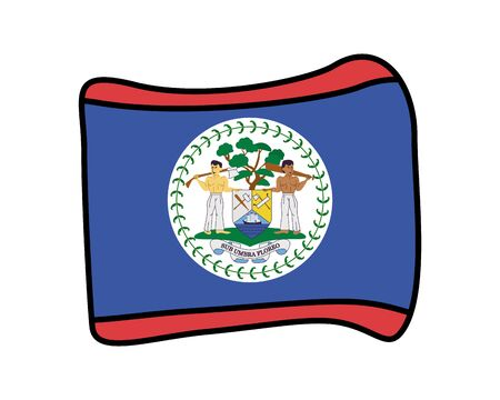 belize flag country isolated icon vector illustration design