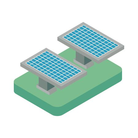 solar panel device isolated icon vector illustration design 向量圖像
