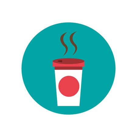 coffee in plastic container icon vector illustration design Ilustração