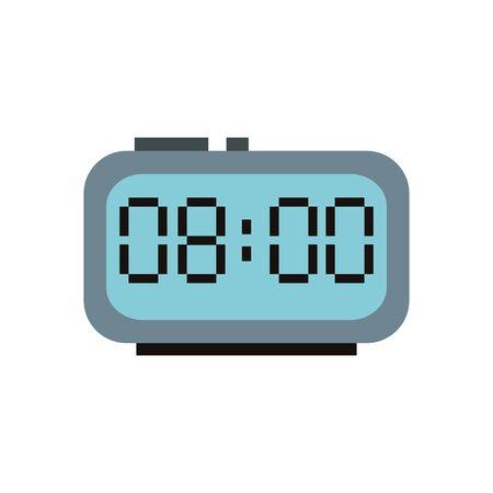 digital alarm clock isolated icon vector illustration design