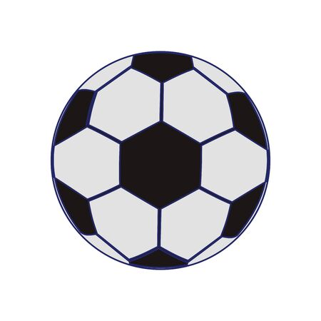 soccer ball icon over white background, vector illustration