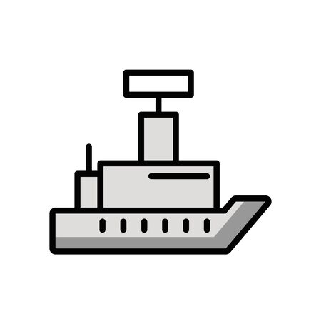 ship military force isolated icon vector illustration design