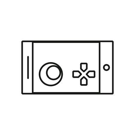 video game control handle icon vector illustration design