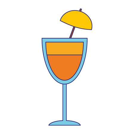Cocktail with umbrella cup vector illustration graphic design