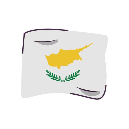cyprus flag country isolated icon vector illustration design