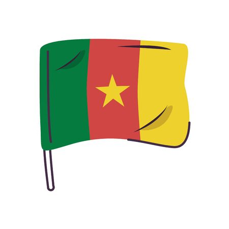 cameroon flag country isolated icon vector illustration design