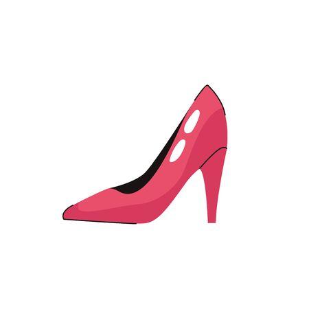 heel shoe fashion female accessory icon vector illustration design Vektorové ilustrace