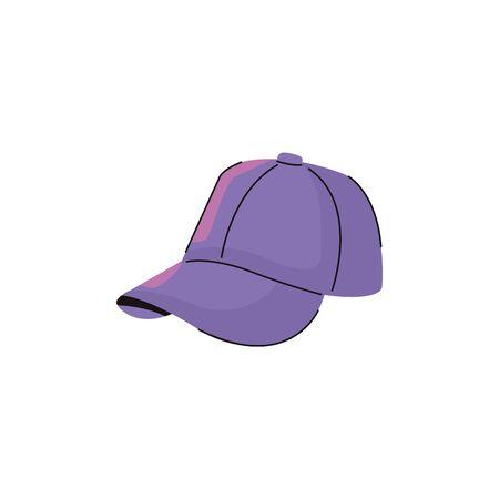 sport cap fashion accessory isolated icon vector illustration design Vetores