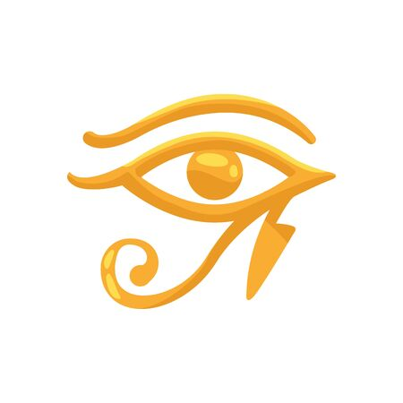 horus eye egyptian symbol isolated icon vector illustration design