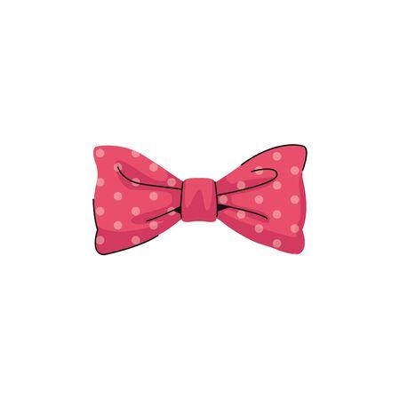 bow tie fashion female accessory vector illustration design