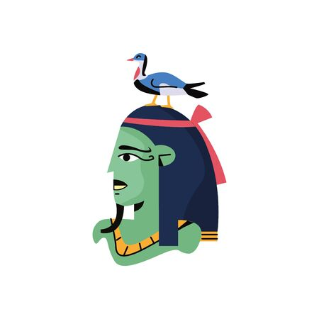 osiris Egyptian god character isolated icon vector illustration design