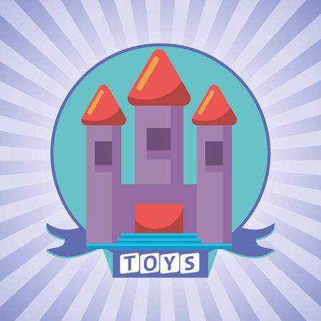 castle of fantasy toy icon vector illustration design