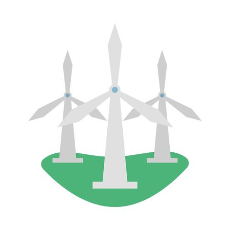 windmill energy environmental isolated icon vector illustration design
