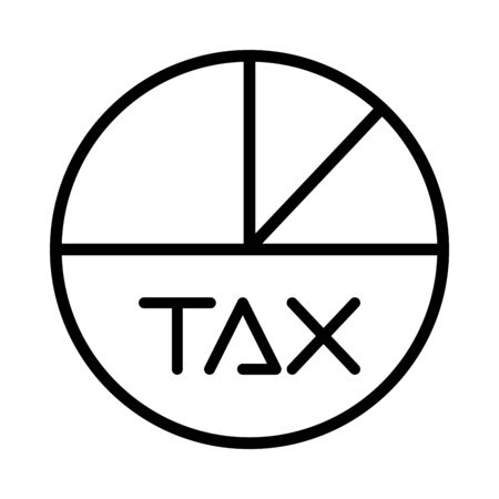 tax obligation statistics pie icon vector illustration design