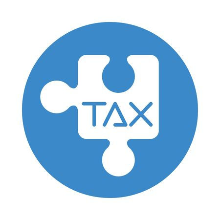 tax obligation with puzzle piece vector illustration design