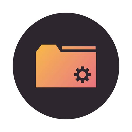 folder file document block style icon vector illustration design Standard-Bild - 142477987