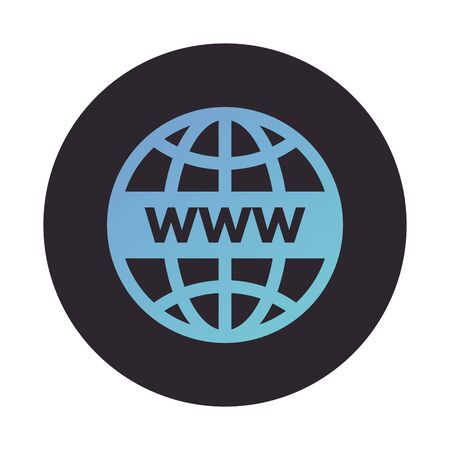 sphere browser globe block style icon vector illustration design