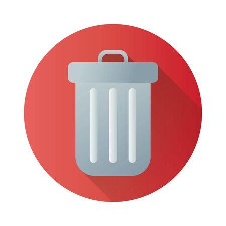bin waste block style icon vector illustration design